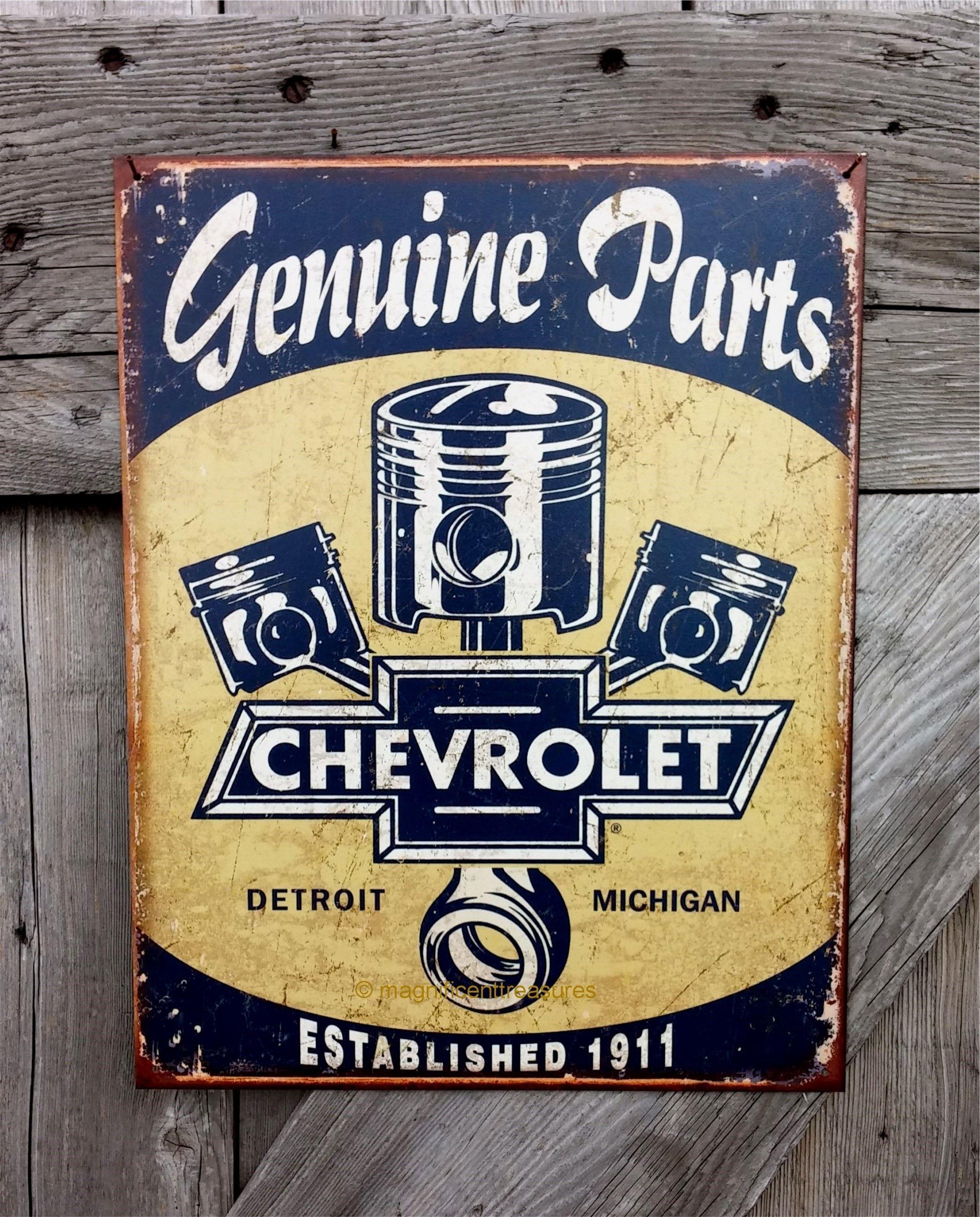 Metal Tin Sign Home Garage Shop Chevy Truck Wall Decor Plaque Chevrolet Trucks