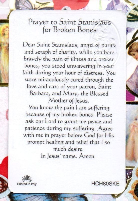 Details about St  Stanislaus -Prayer (Patron - Those w