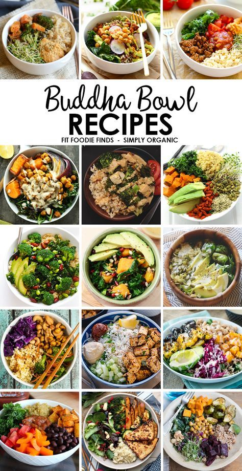 Need to eat more veggies? Eat the rainbow with one of these delicious and nutrition-backed buddha bowl recipes! #nutrition