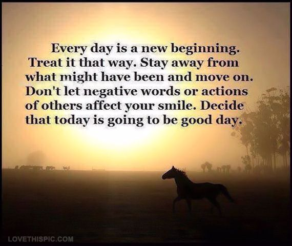 Every Day Is A New Beginning Negative Words Words Quote Of The Day