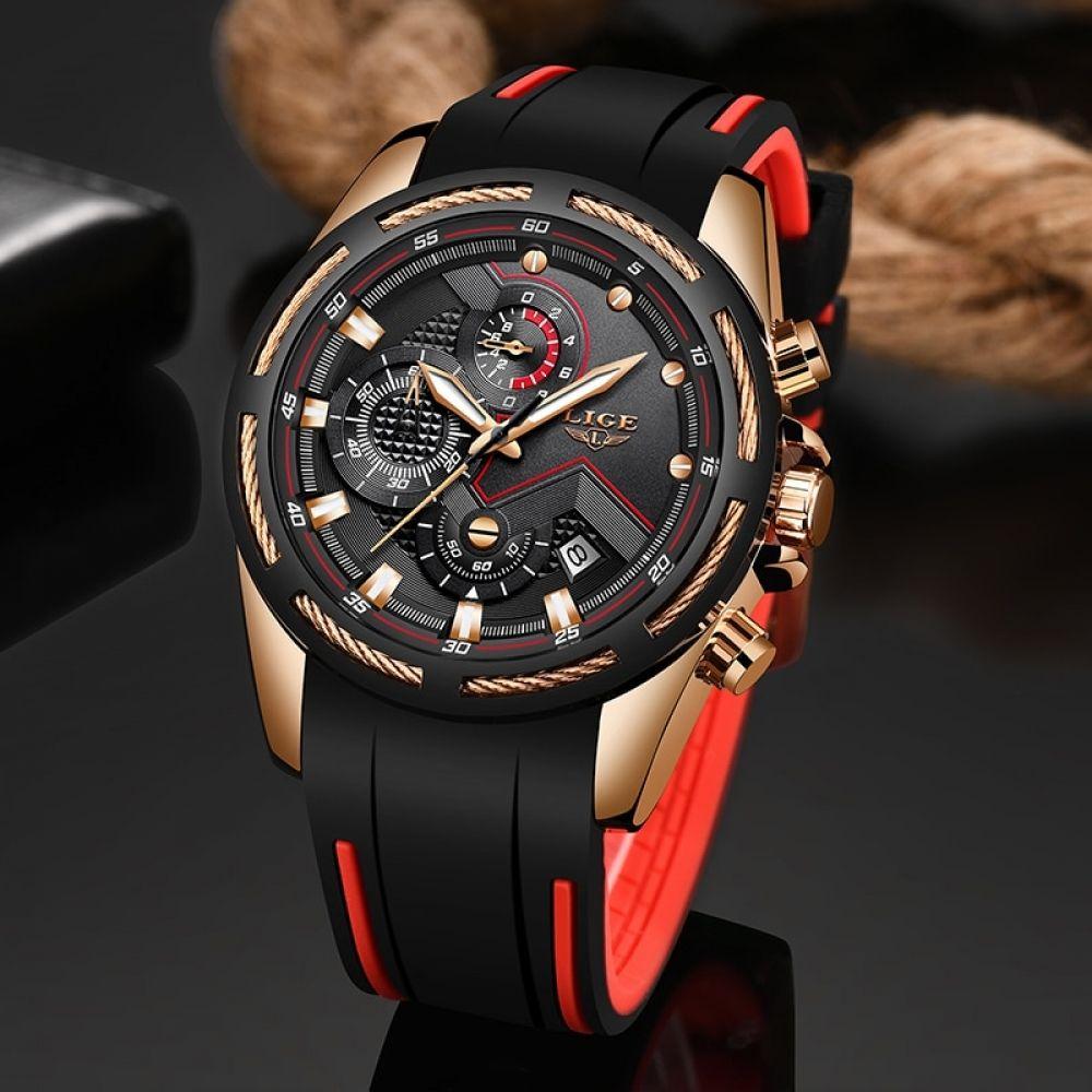 Lige New Mens Watches Top Luxury Brand Men Unique Sports Watch Men S Quartz Date Clock Waterproof Wrist Watch Relogio Masculino Mens Sport Watches Watches For Men Top Luxury Brands