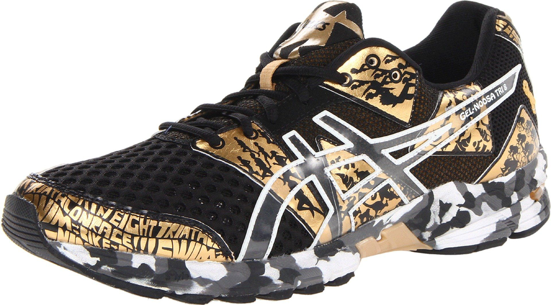 free shipping 06430 40131 ASICS Men s Gel Noosa Tri 8 GR Running Shoe,Black Gold Metallic White