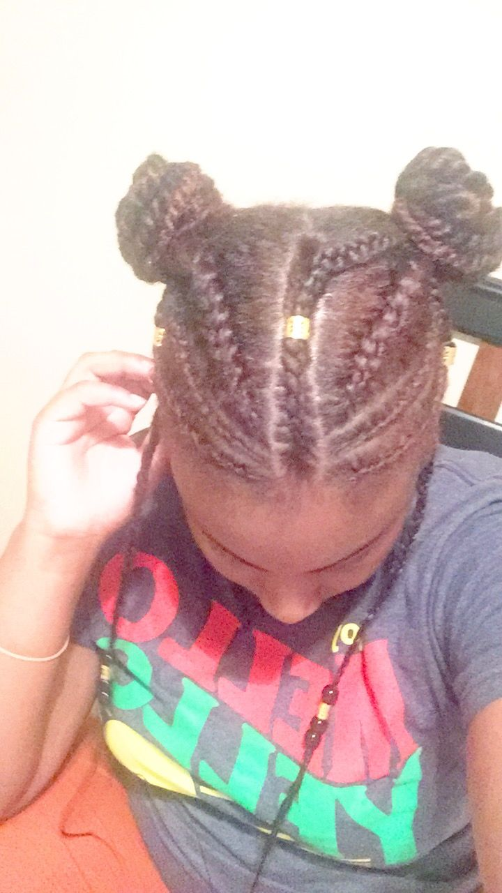 Fulani braids and cornrows african american hair styles