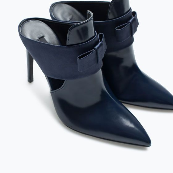 34a8c1029e1 Need these!! ZARA - WOMAN - HIGH-HEELED MULES WITH BOW