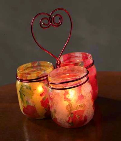Easy Candle Holder Heart Trio