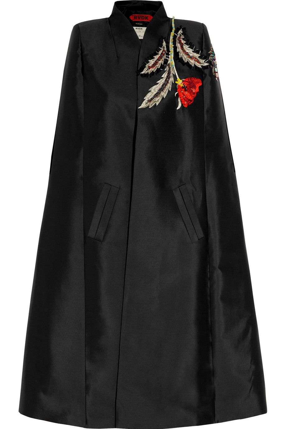 Shop on-sale Ronald Van Der Kemp Embroidered embellished duchesse silk-satin cape. Browse other discount designer Jackets & more on The Most Fashionable Fashion Outlet, THE OUTNET.COM