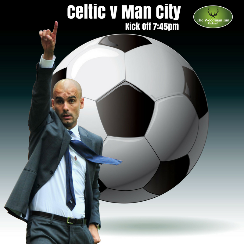 Manchester City travel to Celtic in the Champions League this evening. Come in and join us for all the action at The Woody! :-)  #thewoodmaninn #forestofdean #football www.thewoodmanparkend.co.uk