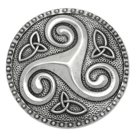 Buckle With Triskele Symbol Of Love Wisdom Strength Herb