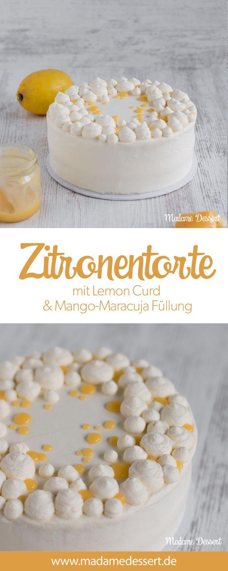 Fruchtige Zitronentorte mit Lemon Curd Fruchtige Zitronentorte mit Lemon Curd -  -