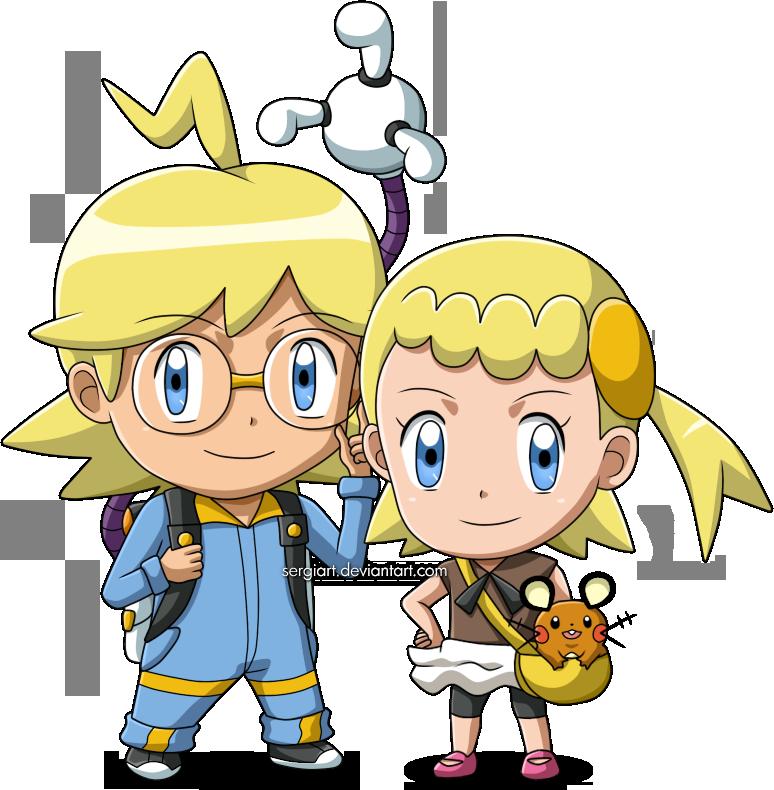 Pokemon - Chibi Clemont/Lem and Bonnie/Clem by SergiART.deviantart.com on @DeviantArt