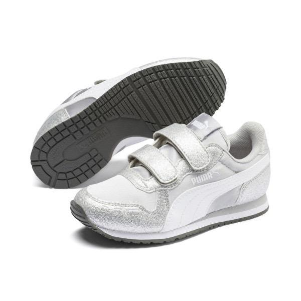 PUMA Kids Cabana Racer Glitter V Sneaker