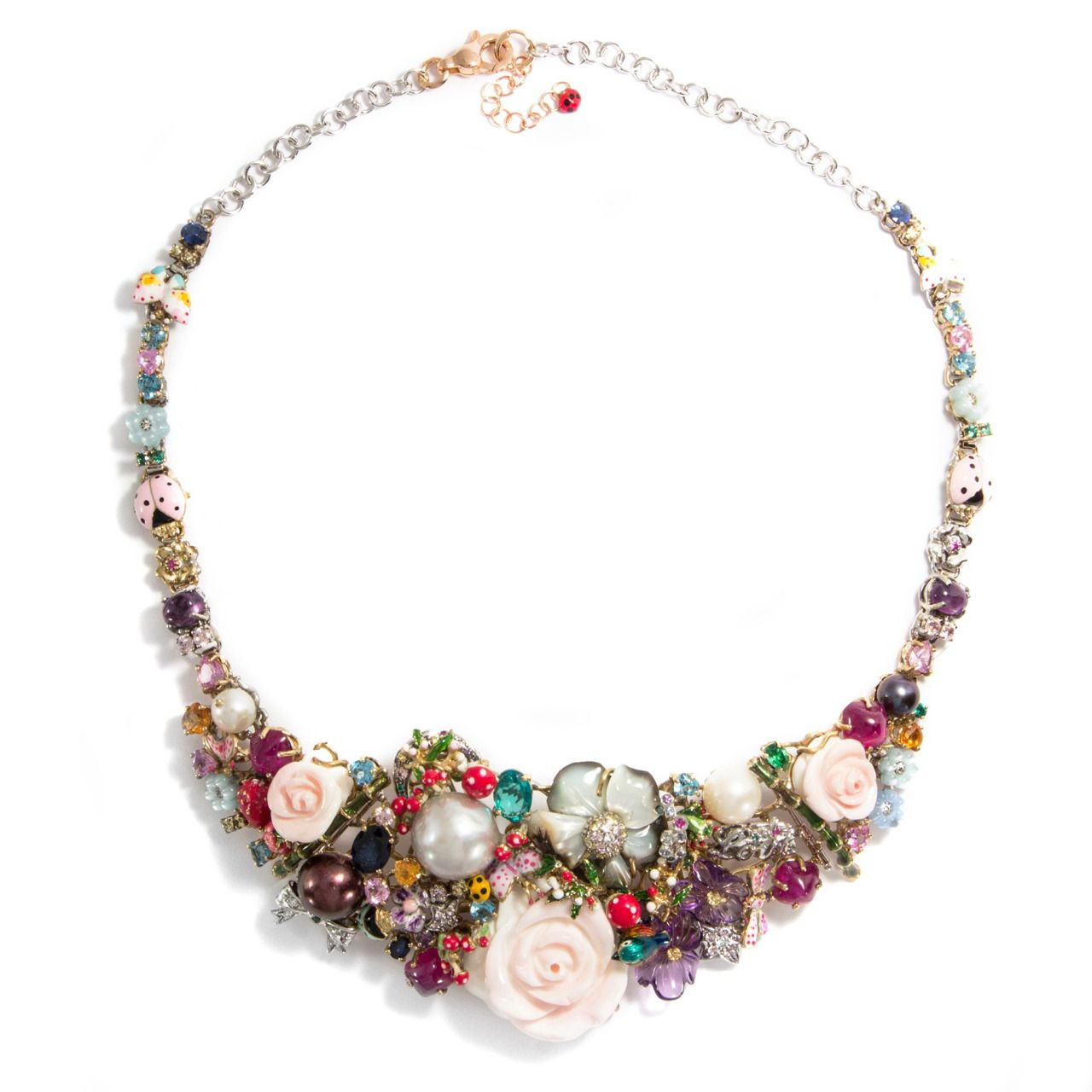 Dreaming in the Garden of MarvelsSpectacular necklace by Santagostino of Italy, now available at Hofer Antikschmuck of Berlin. See more information here!Find this and more antique jewellery at www.hofer-antikschmuck.de