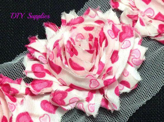 small aqua chiffon flower with aqua headband with gold rose print