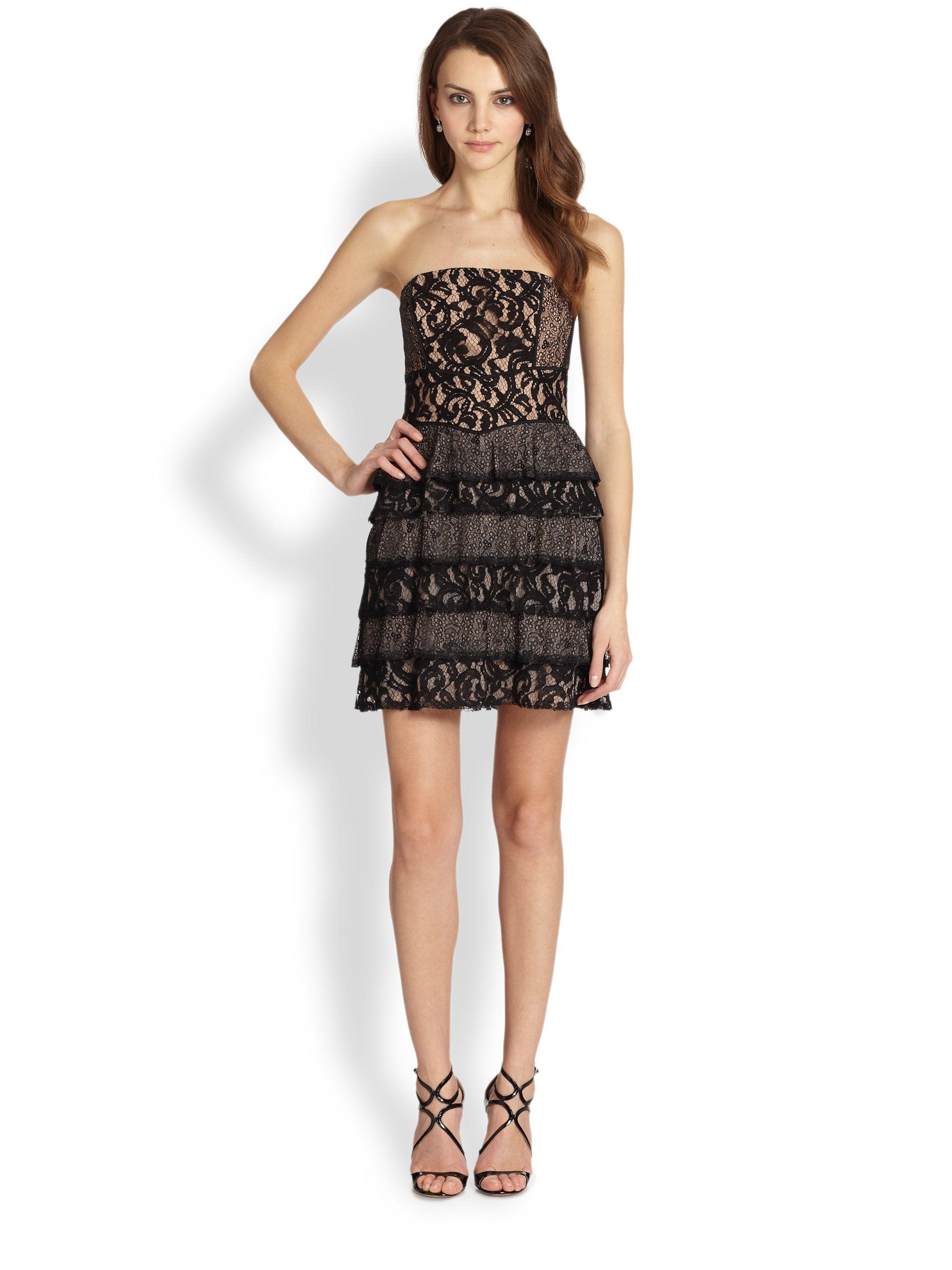 Bcbg black strapless cocktail dress my best dresses pinterest