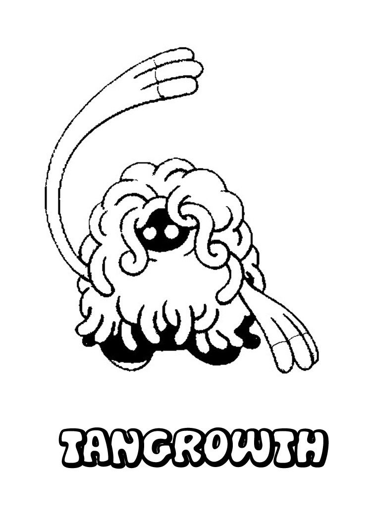 tangrowth pokemon coloring page more pokemon coloring sheets on