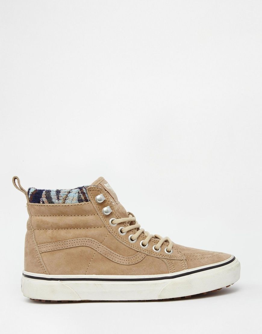 zapatillas vans color beige