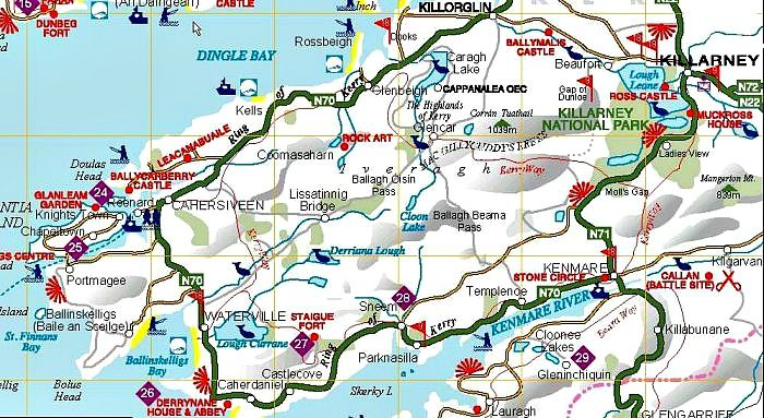 Ring Of Kerry Map Image result for ring of kerry attractions map | ireland | Ireland  Ring Of Kerry Map