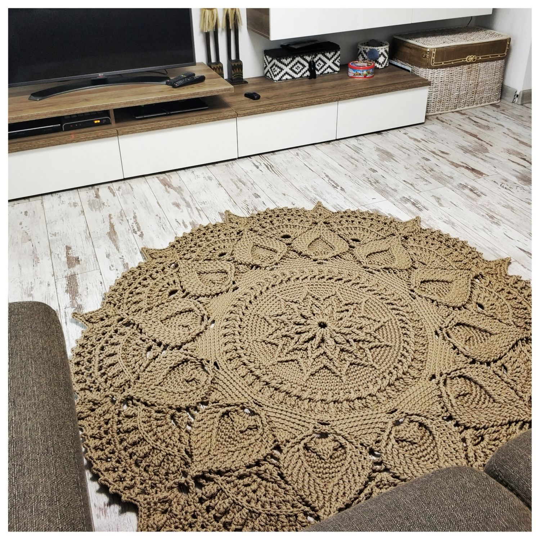 Video Tutorial Crocheting Rug Fox Text Description In Etsy In 2020 Rugs Crochet Rug Patterned Carpet
