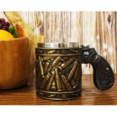 Millwood Pines Asay Revolver Gun Pistol with Ammo Bullet Round ShellsCoffee Mug #gunsammo