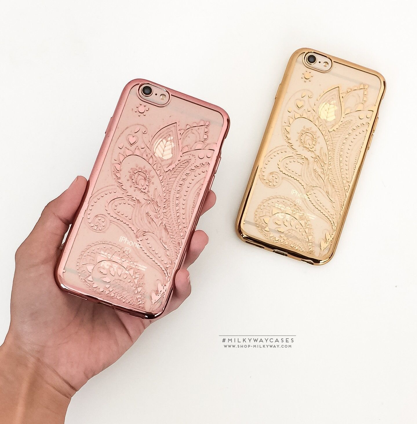 'Gilt Henna Paisley' - Clear TPU Case Cover – Milkyway