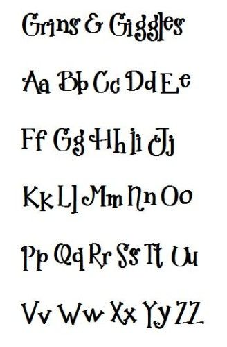 Cute Font  Grins And Giggles  Craft Ideas    Fonts