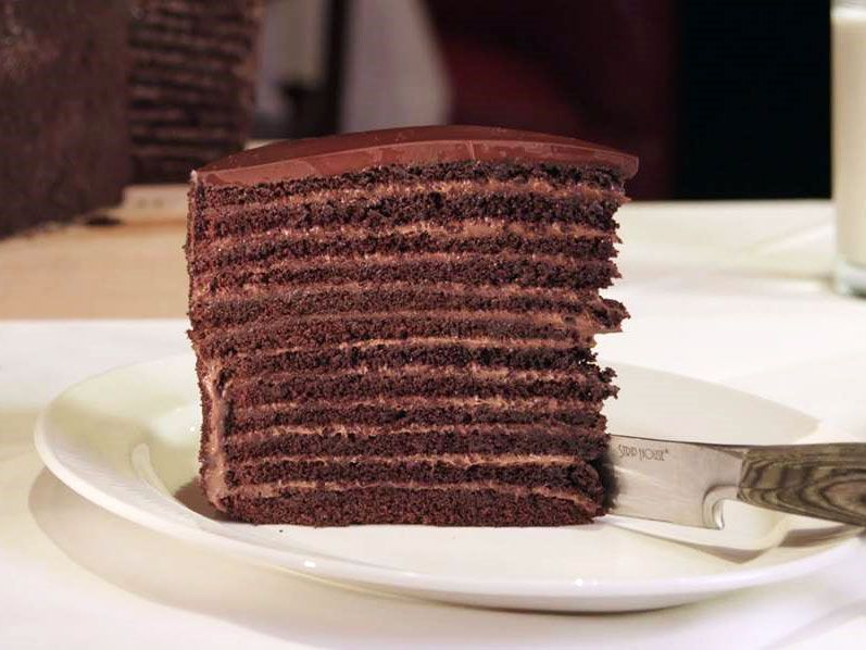 Chocolate cake from Strip House in New York City Travel Tour