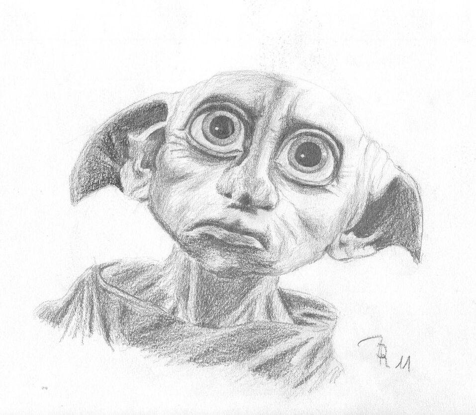 Картинки карандашом добби