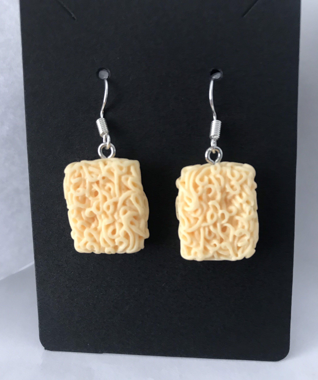 Mini Purple Heart Studs Earrings Novelty Miniature Polymer Clay