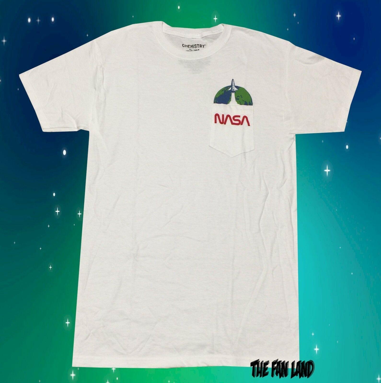 NASA Vintage Logo T Shirt Mens Space Astronaut Retro Style Classic Tee New Black