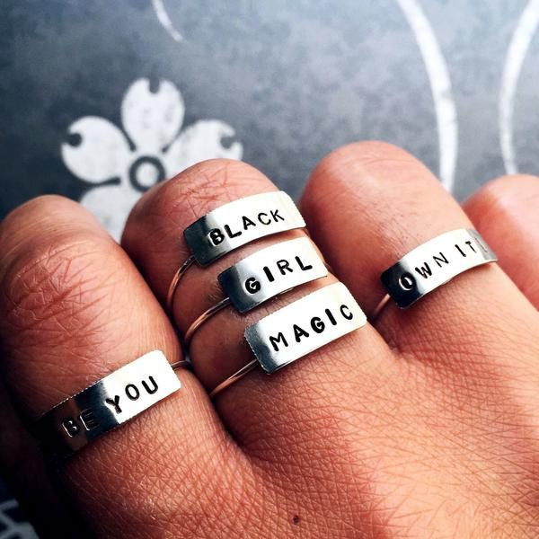 Tiny Bar Rings – Arimas   Accessories   Pinterest   Ring and Collection
