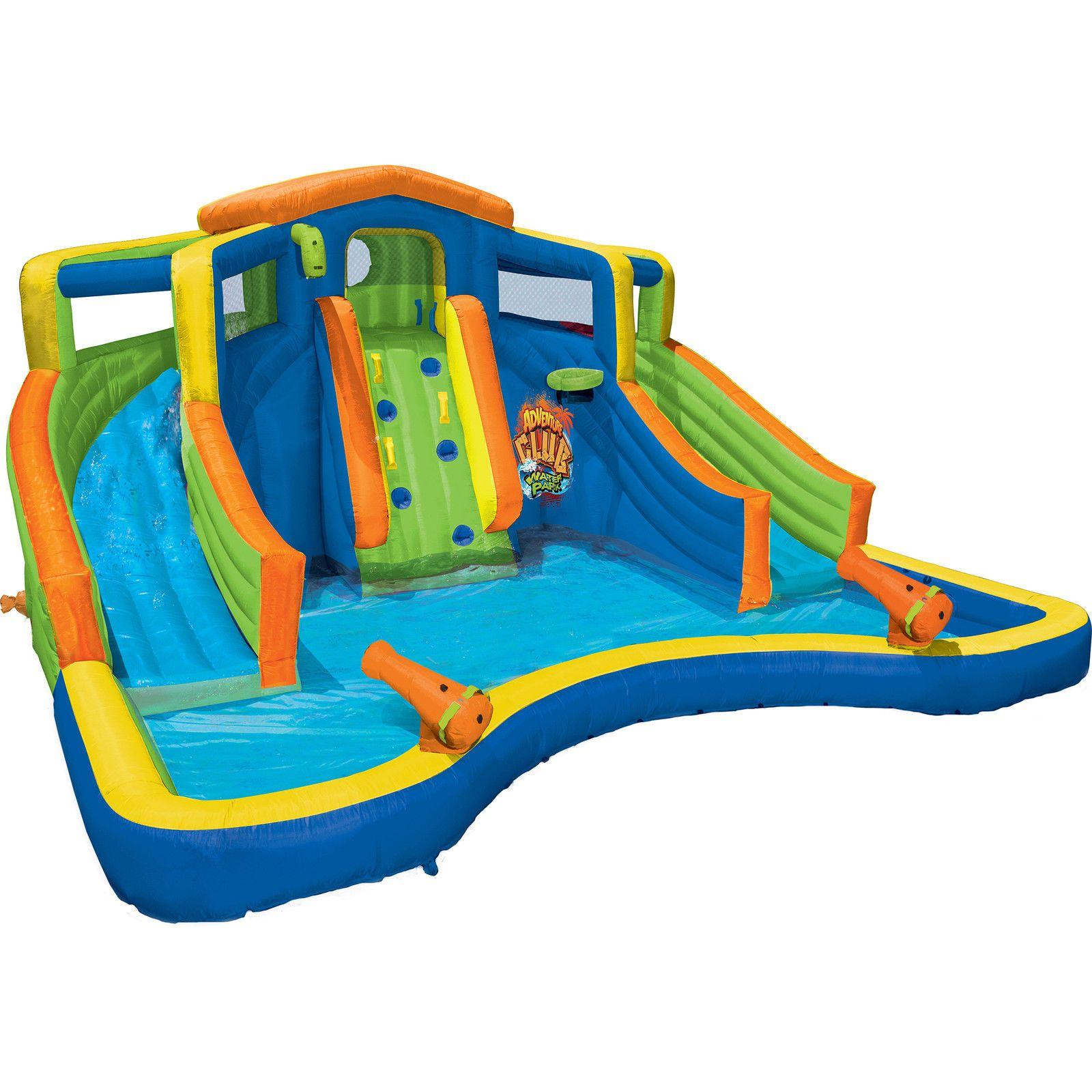 Banzai Inflatable Adventure Club Dual Slide And Pool Backyard Water Park Cartel Feliz Cumpleanos Iconos De Instagram Instagram