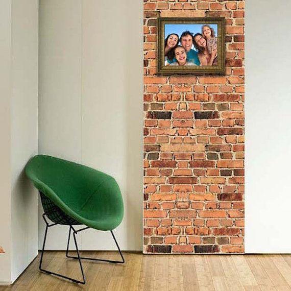 small brick wallpaper decal removable brick wall mural, brick wall