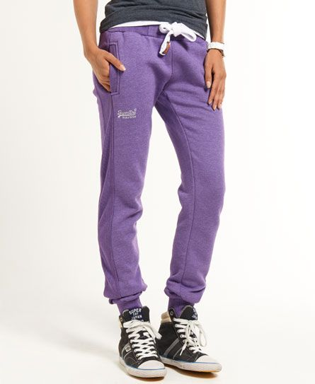 Shop Superdry Womens Slim Fit Joggers in Purple True Grit. Buy now with  free delivery from the Official Superdry Store.
