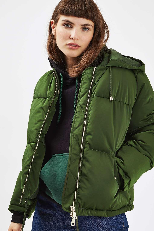 181c83bc3 Short Hooded Puffer Jacket | outerwear | Puffer jackets, Jackets