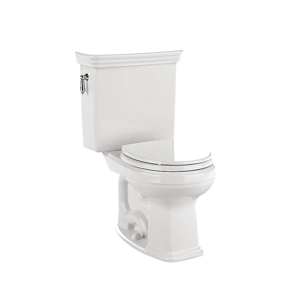 Toto Promenade 2-piece 1.6 GPF Single Flush Round Toilet in Cotton ...