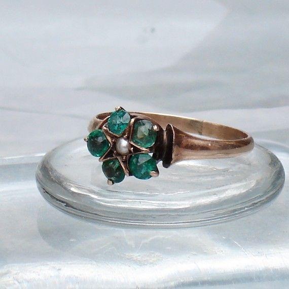 Victorian Emerald Star Ring Amazing Jewelry Beautiful Jewelry