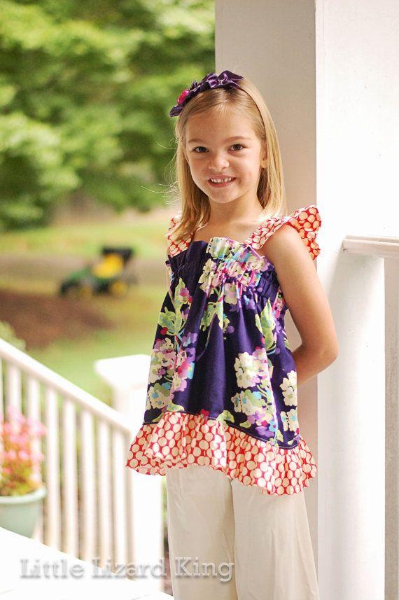 Girls Sewing Pattern, Easy Sewing Pattern, Pinafore Pattern, Ruffle ...