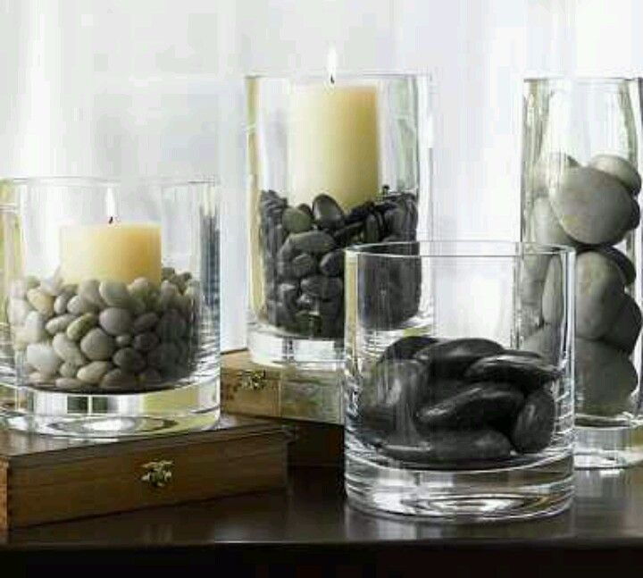 I love rocks! Goes well wih a spa theme For the Home Pinterest