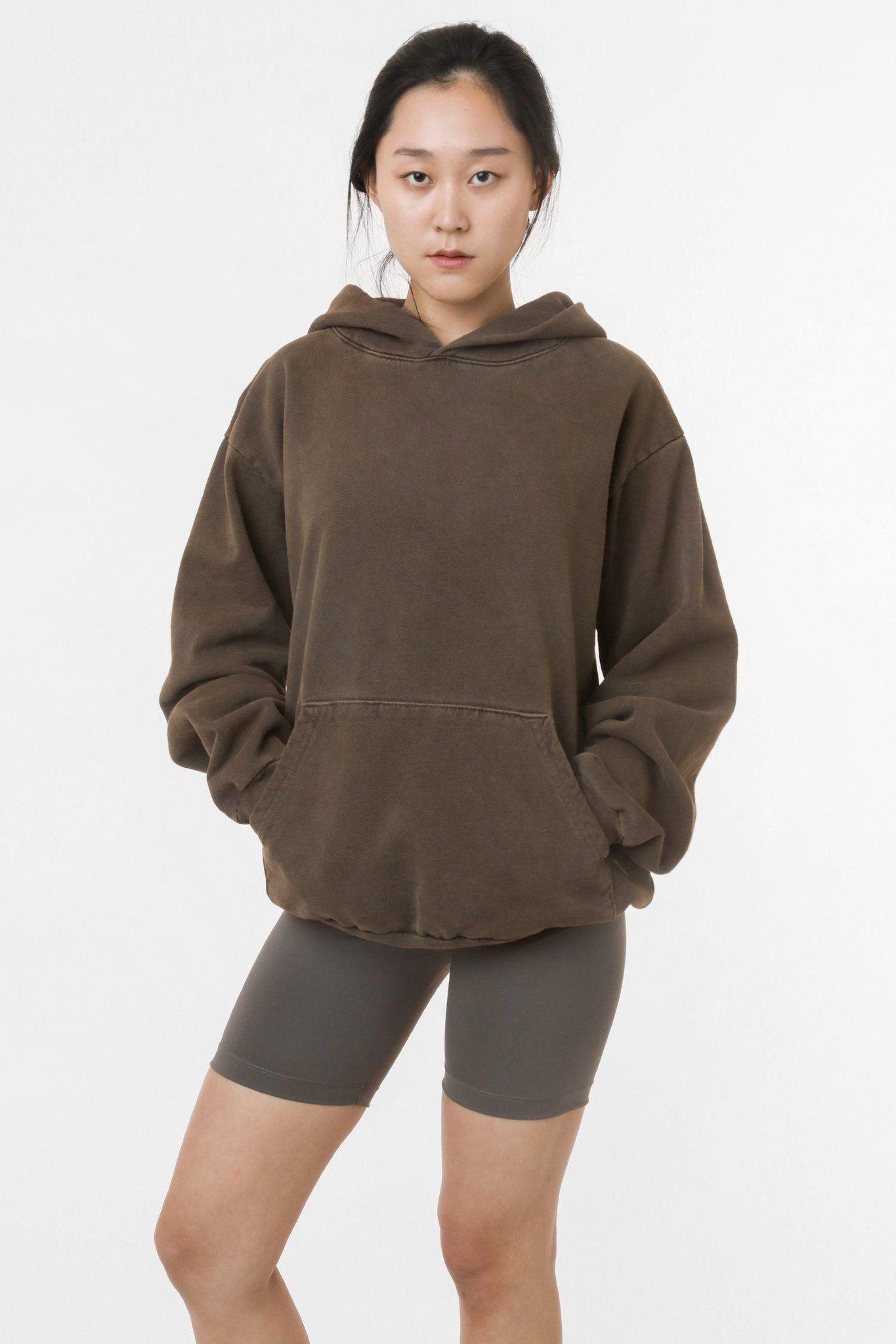 Hf14gd Unisex Pigment Dye Heavy Fleece Tee In 2020 Hooded Pullover Sweaters And Leggings Fleece Hooded Sweatshirt
