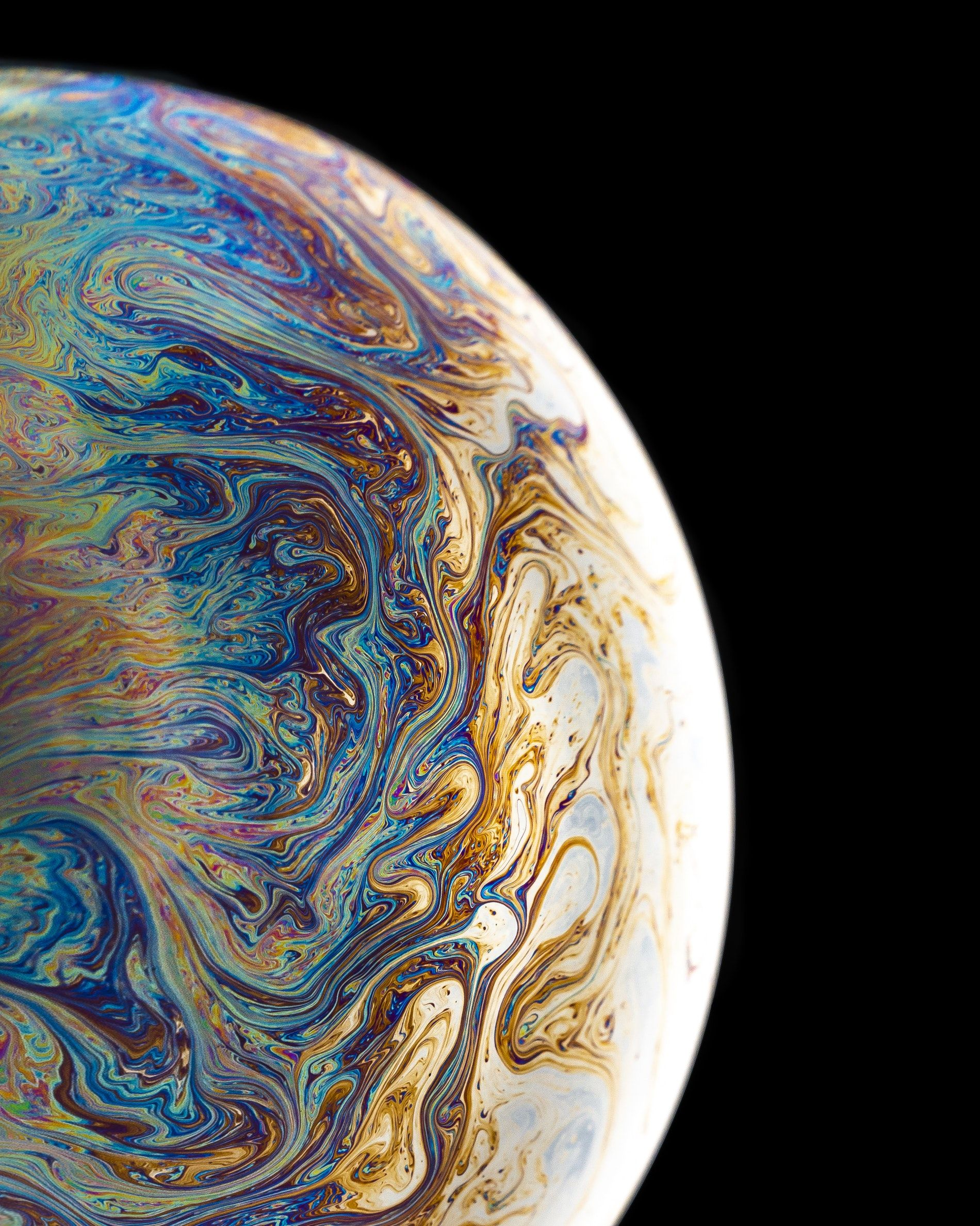 Blue Yellow And Brown Planet With Black Background Trippy Iphone Wallpaper Colourful Wallpaper Iphone Art Wallpaper Iphone