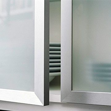 Custom Touches For Small Kitchens Glass Front Cabinets Glass