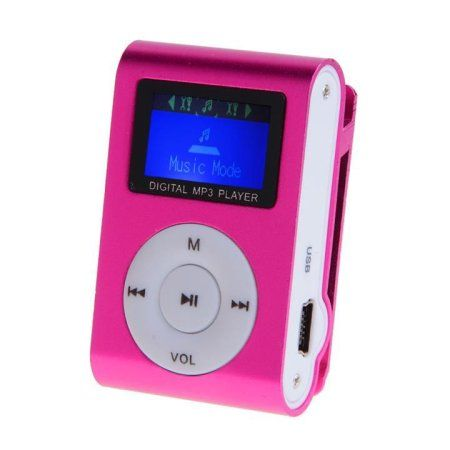 Portable Clip MP3 Player Music Player wSupport FM Radio&16 GB Micro