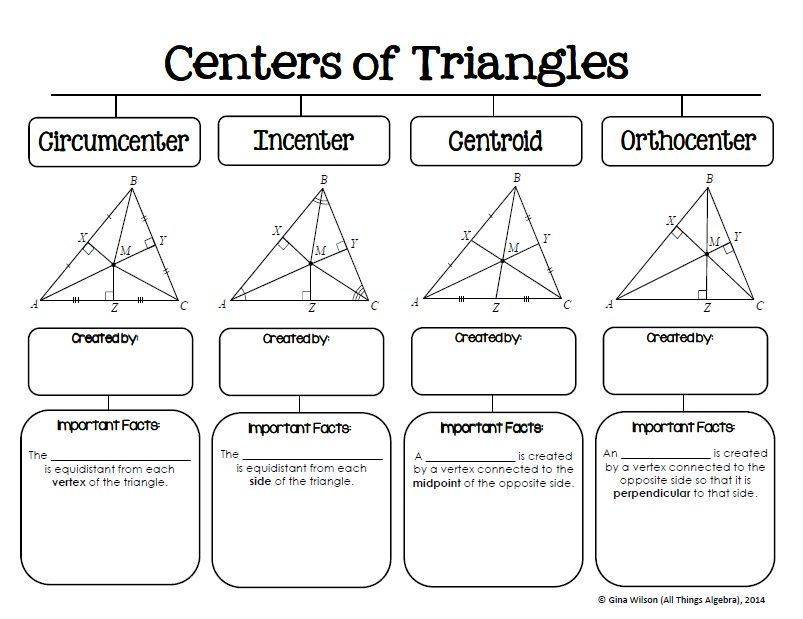 All Things Algebra On Graphic Organizers Triangle Worksheet Hs
