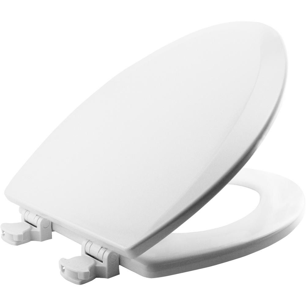 Bemis Lift Off Elongated Closed Front Toilet Seat In Cotton White