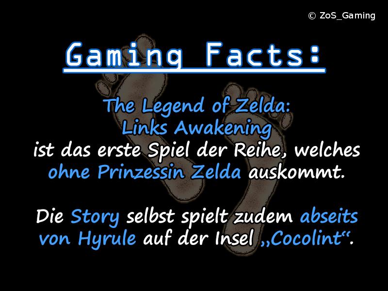 The Legend of Zelda: Links Awakening ist das erste Spiel der Reihe, welches ohne Prinzessin Zelda auskommt. Die Story selbst spielt zudem abseits von Hyrule auf der Insel Cocolint.