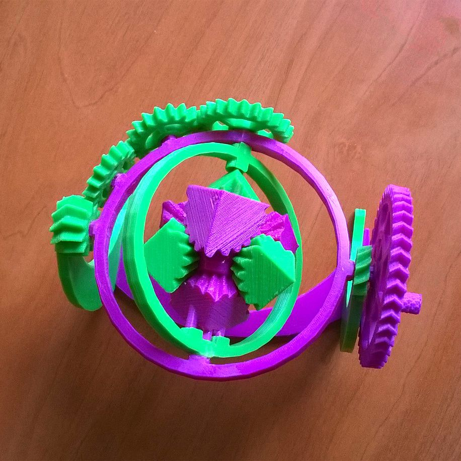 Diy Design Objects: The Amazing Gyroscopic Cube Gears! By Joefe Http