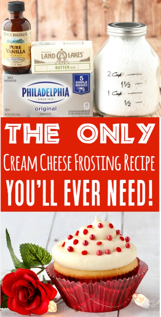 Frosting Recipes Easy Cream Cheese Powdered Sugar Frosting for Simple Cookie & Cupcake Decorating!