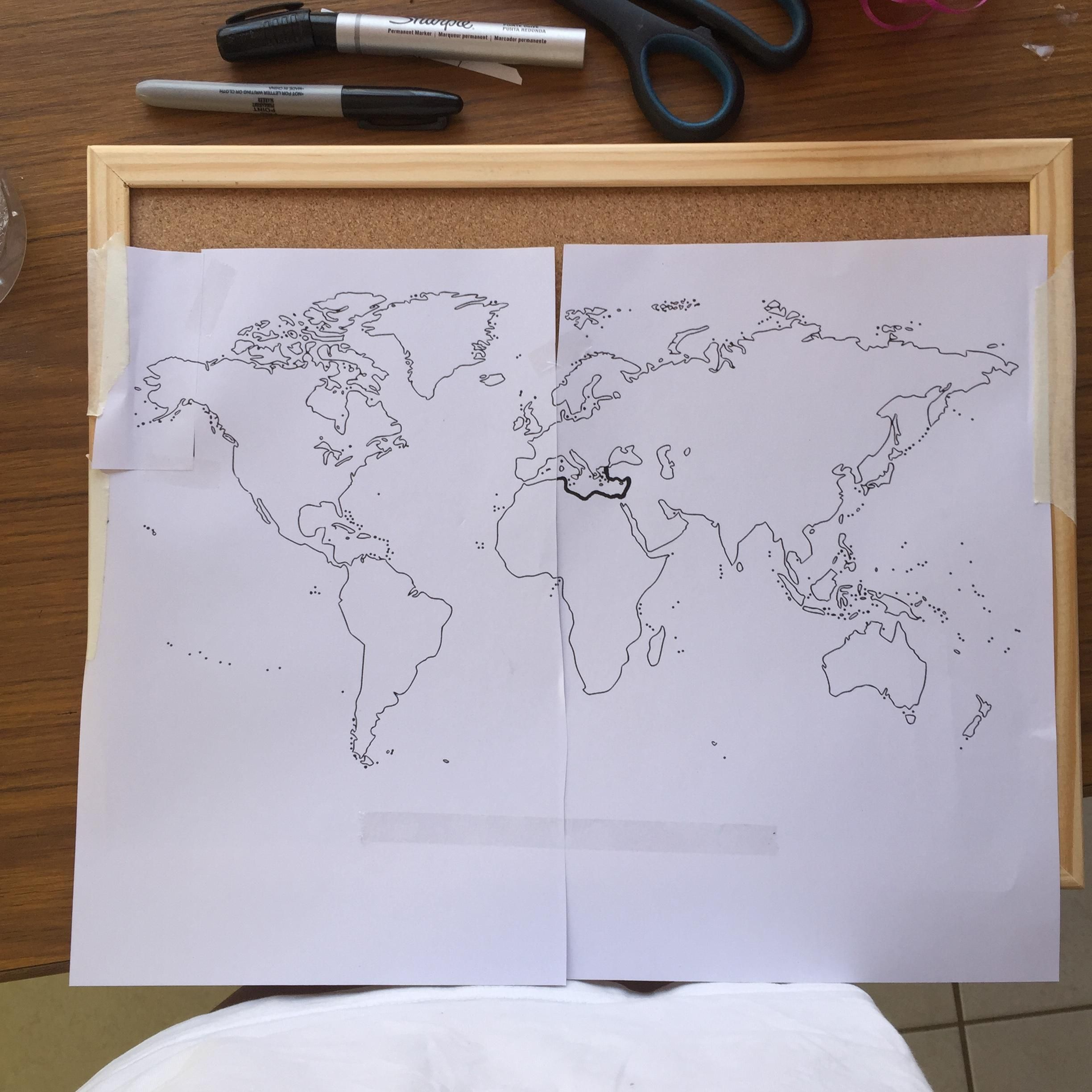 I made a world map of my dna do it yourself pinterest handmade i made a world map of my dna solutioingenieria Images