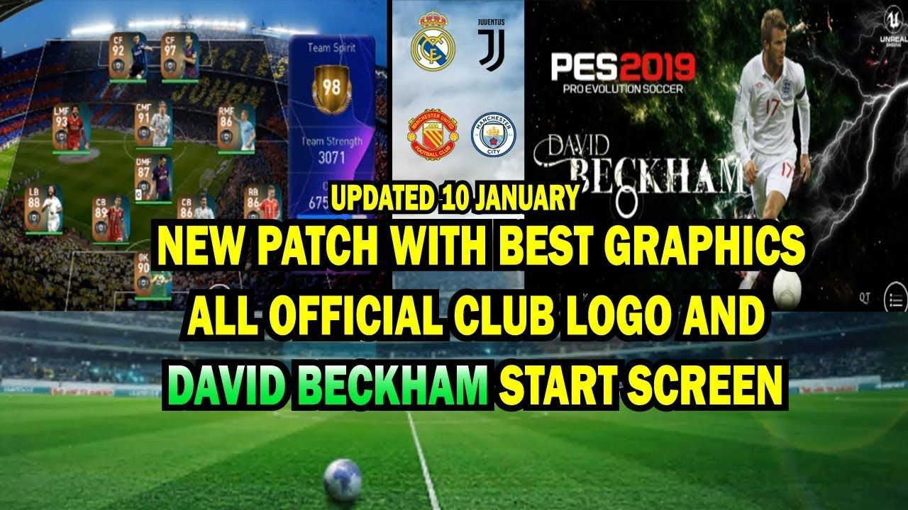 PES 2019 MOBILE updated PATCH 10 JAN || best graphics with start