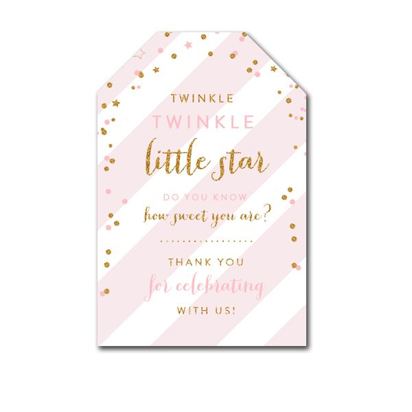 picture about Free Printable Baby Shower Thank You Tags called Totally free Printable Thank On your own Tags - Twinkle Twinkle Minor Star